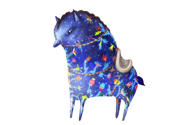 Dream horse-acrylic-2011- 650x437 px
